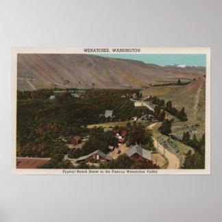 Wenatchee WABird s Eye of Ranch in the Valley Poster