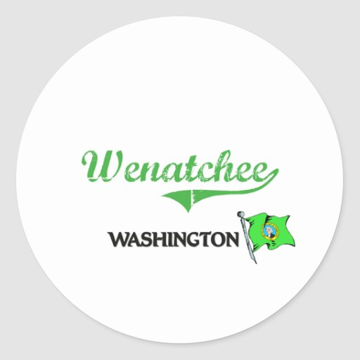 Wenatchee Washington City Classic Round Stickers