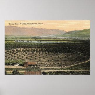 Wenatchee WashingtonAerial View of an Orchard Print