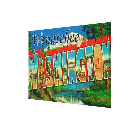 Wenatchee, WashingtonLarge Letter Scenes Canvas Print