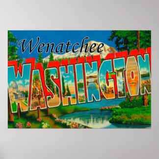 Wenatchee WashingtonLarge Letter Scenes Posters