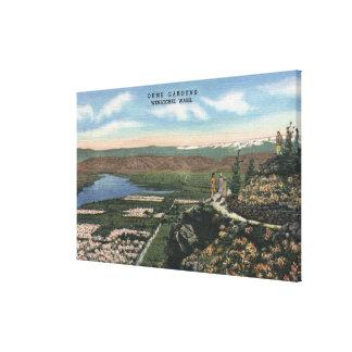 Wenatchee, WashingtonView de Ohme cultiva un huert Impresión En Lienzo Estirada