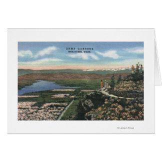 Wenatchee, WashingtonView de Ohme cultiva un huert Tarjeta De Felicitación