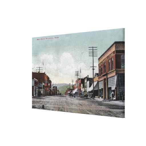 Wenatchee, WashingtonView of Main Street Stretched Canvas Print