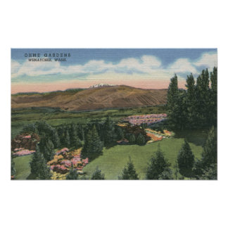 Wenatchee WashingtonView of Ohme Gardens 2 Print