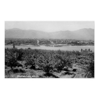Wenatchee WashingtonView of the River and Print