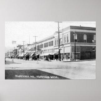 Wenatchee WashingtonView of Wenatchee Avenue Poster