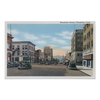 Wenatchee WashingtonWenatchee Avenue Scene 2 Print