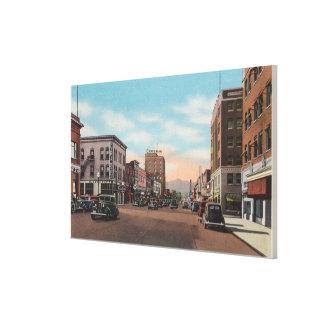Wenatchee, WAStreet View of Wenatchee Ave. Canvas Print