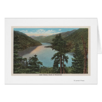 Wenatchee, WAView del lago Chelan Tarjeta De Felicitación