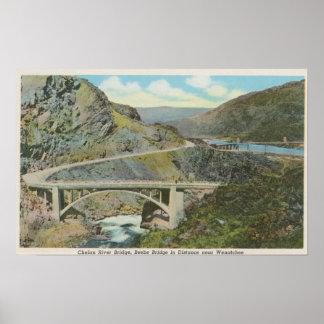 Wenatchee WAView of the Chelan River Bridge Print