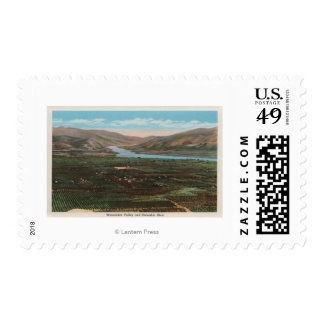 Wenatchee, WAView of Valley & Columbia River Postage