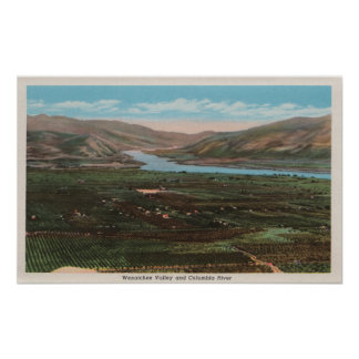 Wenatchee WAView of Valley Columbia River Posters