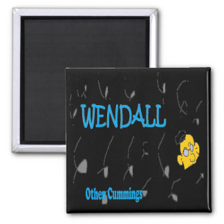 Wendall book cover 2 inch square magnet