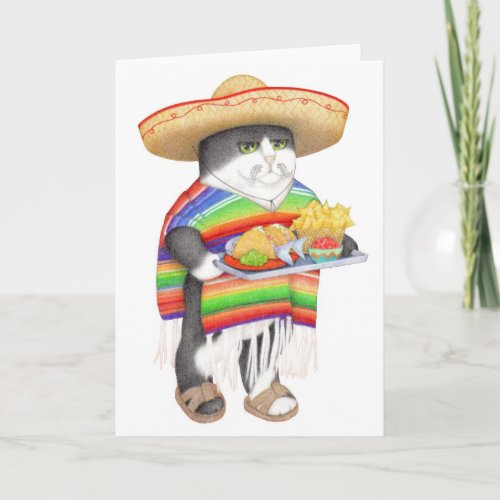 Wendelito Kitty Blank Greeting Holiday Card