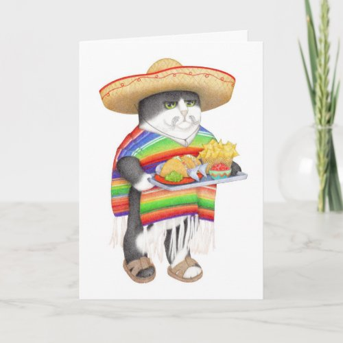 Wendelito Kitty Feliz Navidad Holiday Card