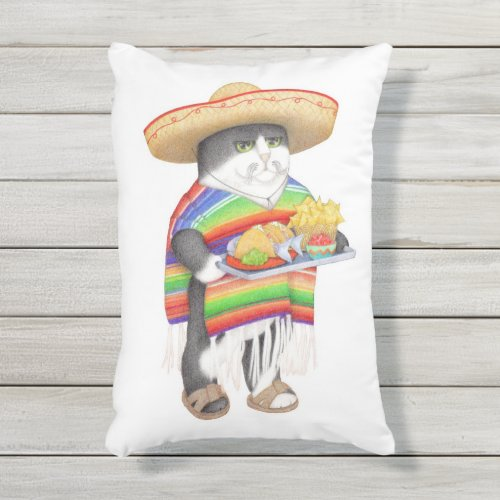 Wendelito Kitty Outdoor Pillow