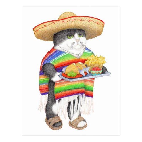Wendelito Kitty Postcard