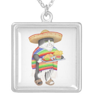 Wendelito Kitty Silver Plated Necklace