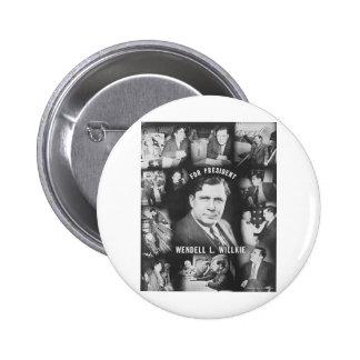 Wendell 1940 Willkie Pin Redondo 5 Cm