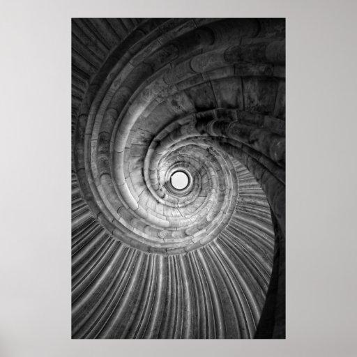 Wendelstein - escalera de caracol fotografía en Ne Póster