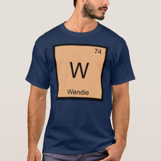 Wendie Name Chemistry Element Periodic Table T-Shirt