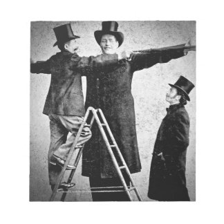 Wendt Cabinet Card Giant Circus Freak Sideshow Notepad