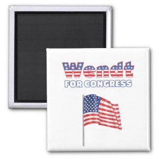 Wendt para la bandera americana patriótica del con imanes de nevera