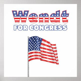 Wendt para la bandera americana patriótica del con posters