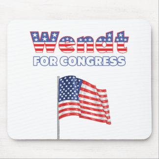 Wendt para la bandera americana patriótica del con alfombrilla de raton
