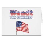 Wendt para la bandera americana patriótica del con tarjeton