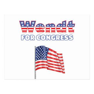 Wendt para la bandera americana patriótica del postal