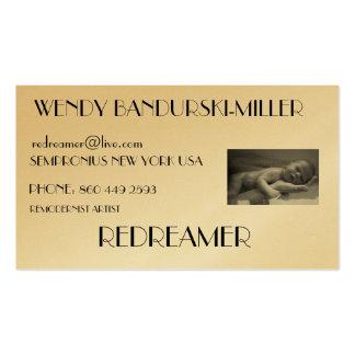 WENDY BANDURSKI-MILLER, redreamer... Business Card Templates