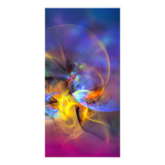 Wendy - colorful digital abstract art card