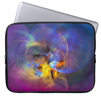 Wendy - colorful digital abstract art computer sleeves