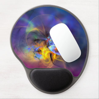 Wendy - colorful digital abstract art gel mouse pad