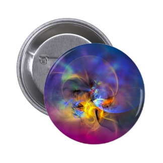 Wendy - colorful digital abstract art pinback button