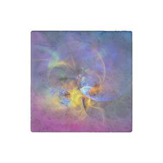 Wendy - colorful digital abstract art stone magnet