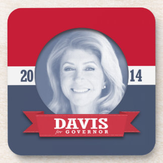WENDY DAVIS CAMPAIGN BLUE - png Drink Coasters