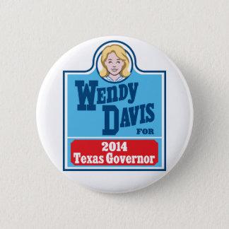 Wendy Davis for Texas Governor 2014 Button