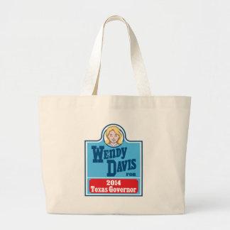Wendy Davis for Texas Governor 2014 Large Tote Bag