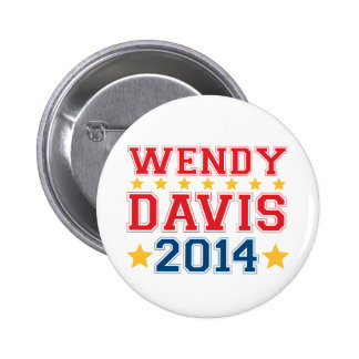 Wendy Davis for Texas Governor 2014 Pin