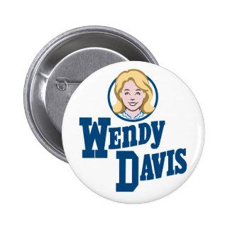 Wendy Davis para el gobernador 2014 de Tejas Pins