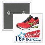 Wendy Davis para el gobernador Pin