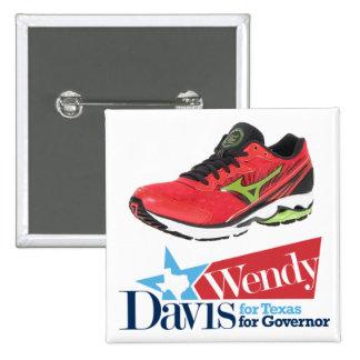 Wendy Davis para el gobernador Pin Cuadrado