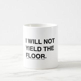 Wendy Davis Will Not Yield the Floor Coffee Mugs
