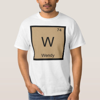 Wendy Name Chemistry Element Periodic Table T-Shirt