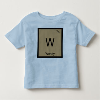 Wendy Name Chemistry Element Periodic Table Toddler T-shirt