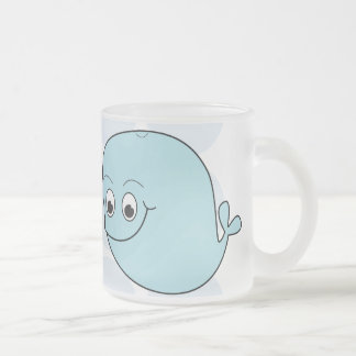 Wendy & Wally 10 Oz Frosted Glass Coffee Mug