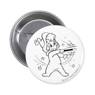 Wendy Waving Wand 3 Pinback Button